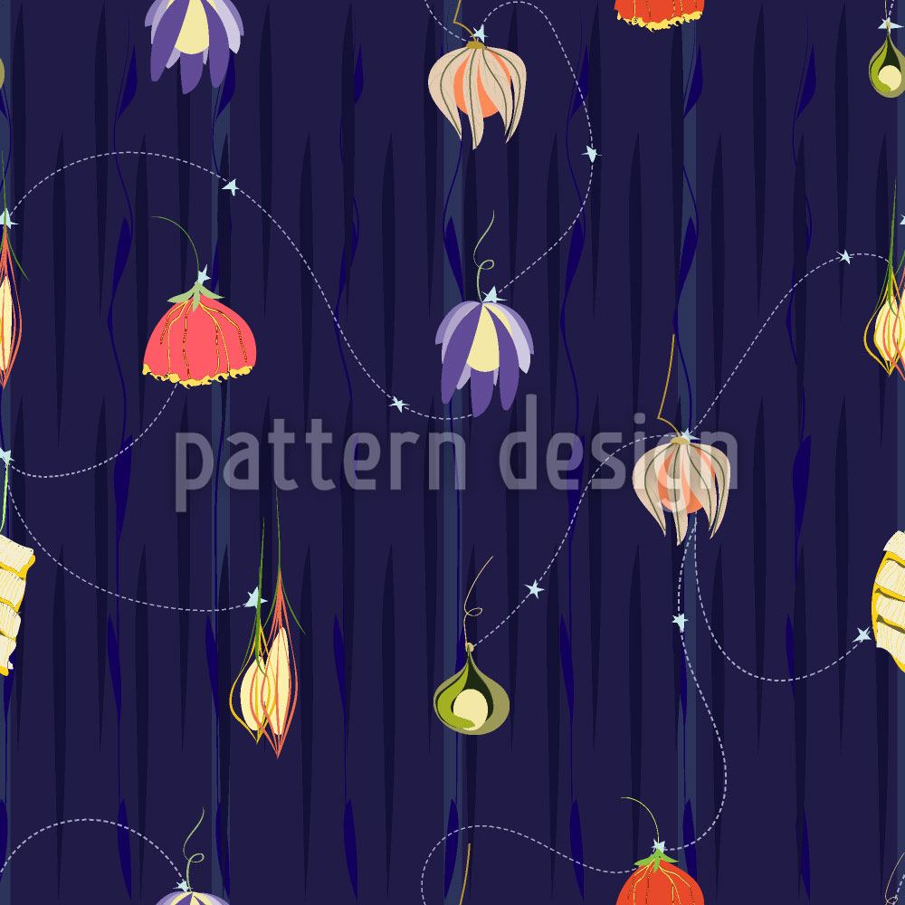 Papier peint design Night Of The Flower Lanterns