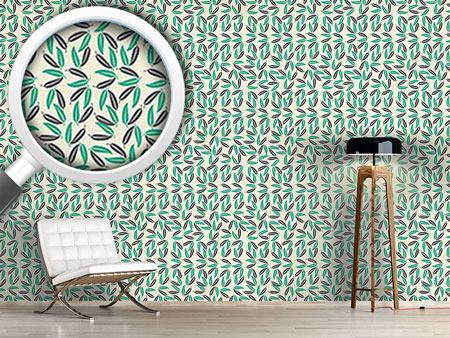 Pattern Wallpaper Tropical Leaves