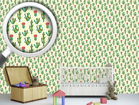 Pattern Wallpaper Desert Cactus