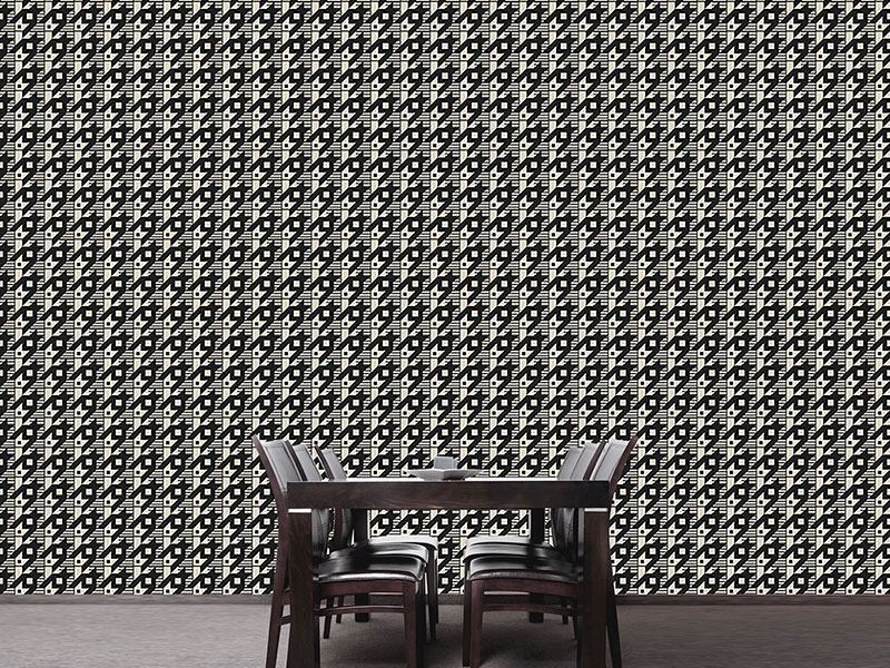 Pattern Wallpaper Hounds-Tooth Variation