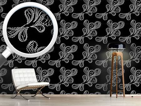 Pattern Wallpaper Beluga Paisley