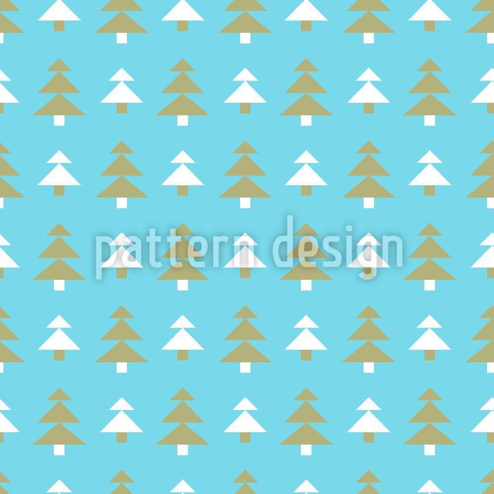 Papier peint design Christmas Tree Bonanza