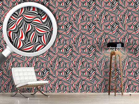 Pattern Wallpaper Curled Stripes