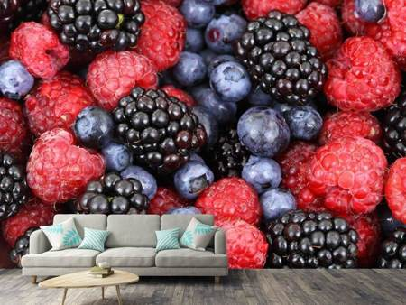 Photo Wallpaper Fruity berries