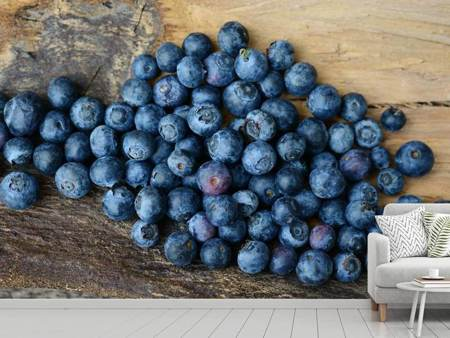 Photo Wallpaper Fresh blueberries