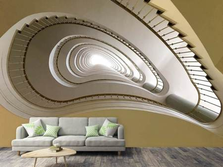 Photo Wallpaper Unconventional staircase