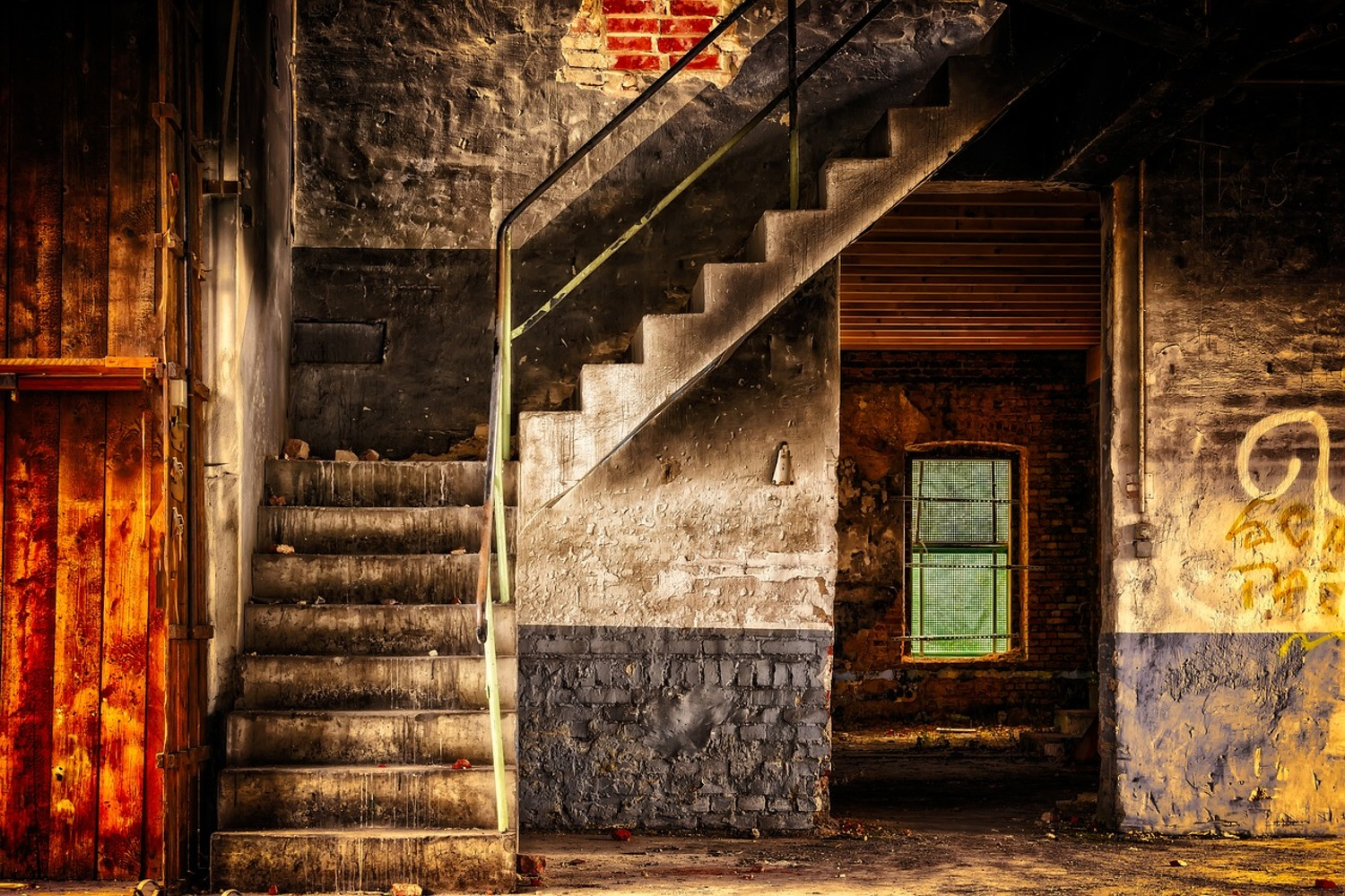 Photo Wallpaper Abandoned stairs
