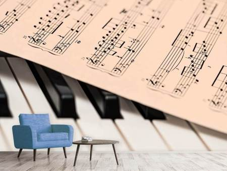 Photo Wallpaper Piano notes