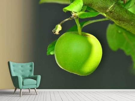 Photo Wallpaper Green apple