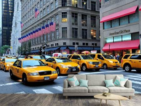 Photo Wallpaper Manhattan - taxi please