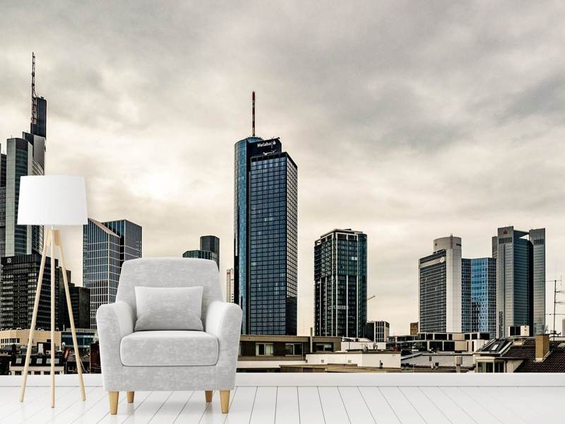 Photo Wallpaper Skyline Frankfurt Germany
