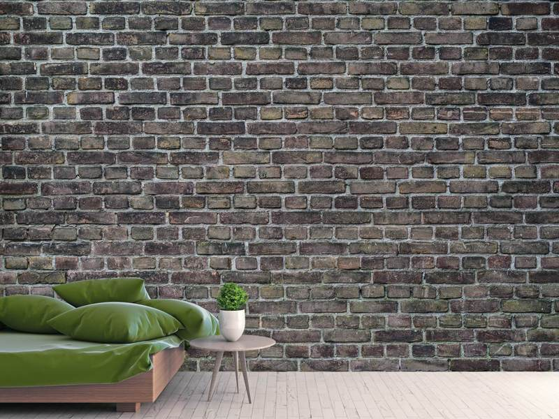 Photo Wallpaper Dark clinker stones