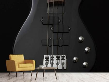Photo Wallpaper Guitar in black