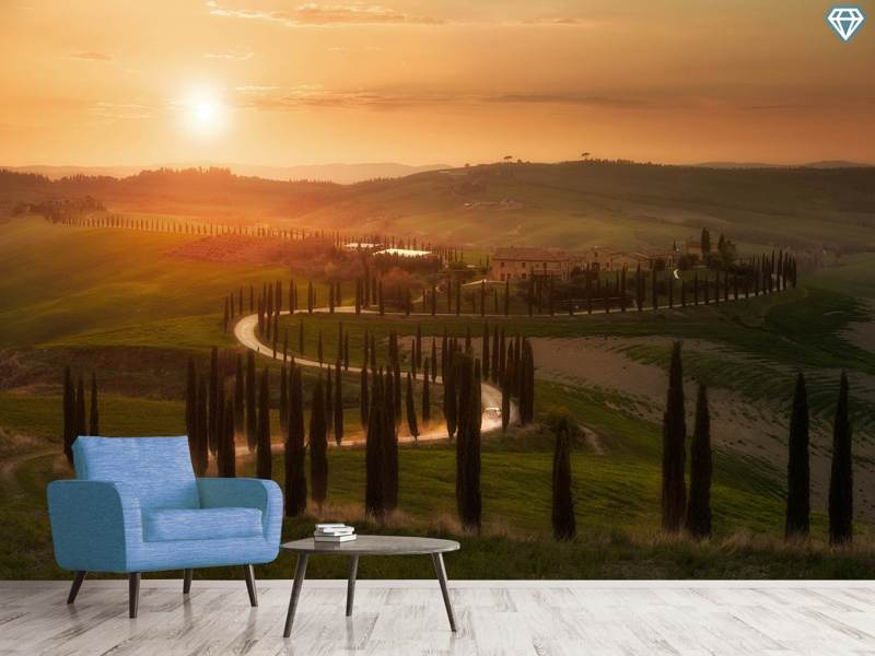 Fotobehang Tuscany Evening