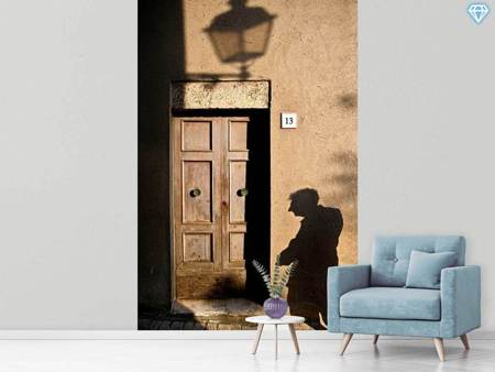 Fotobehang Street and Shadow