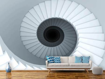 Photo Wallpaper 3D Spiral Staircase