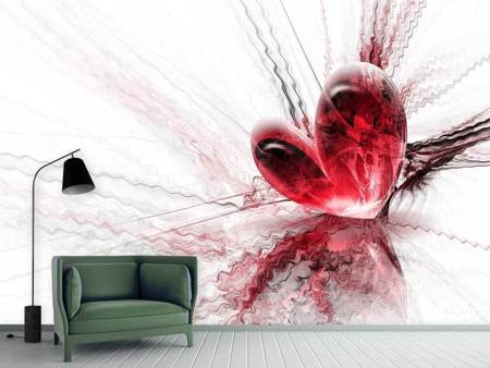 Photo Wallpaper Heart Reflection