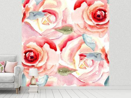 Fotobehang Painting Rose