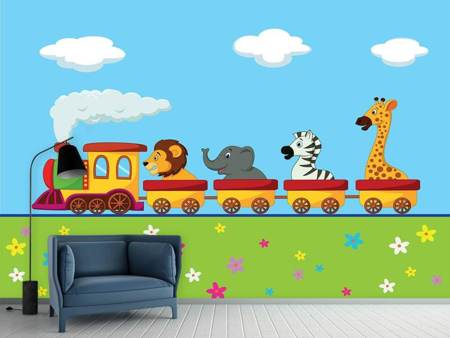 Photo Wallpaper Animal Train