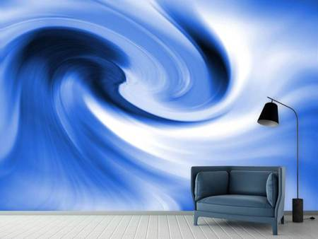 Fotobehang Abstract Blue Wave