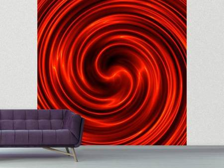 Fotobehang Abstract Red Whirl