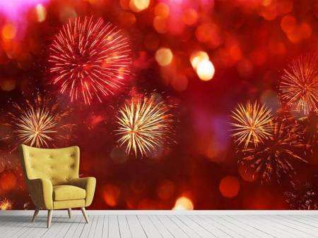 Photo Wallpaper Colorful Fireworks