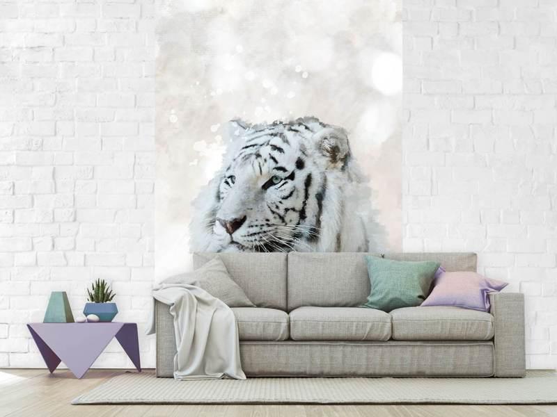 Photo Wallpaper Tiger Painting