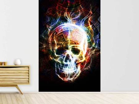 Photo Wallpaper Psychedelic Skull